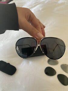 PORSCHE DESIGN Sunglasses With Spare Lenses - 66 MM