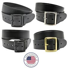 "Perfect Fit Garrison Belt 1.75"" Premium Leather Basket Weave Plain Choice Buckle"