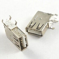 10pcs Vertical Type A 4 Pin USB Connector Socket Female PC Laptop Computer DIP