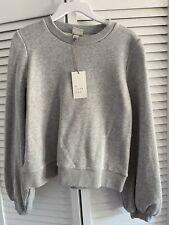 NWT Women's A New Day Size Small Light Gray Long Sleeve Sweatshirt Cotton