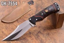"9.2""KMA CUSTOM 52100  STEEL MIRROR POLISH FULL TANG HUNTER BLADE KNIFE 7554"