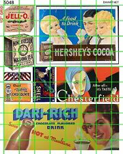 5048 DAVE'S DECALS HO SCALE FOOD DRY GOODS COCOA CHESTERFIELD 1910'S 20S 30S