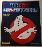 STICKER ALBUM - The Real Ghostbusters Panini Sticker Album *Approx 22 Stickers*