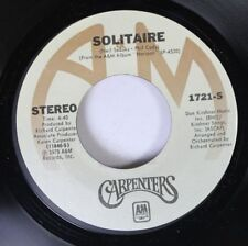 Rock 45 Carpenters - Solitaire / Love Me For What I Am On A&M Records, Inc.