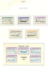 ENGLAND LOCAL STAMPS   GUERNSEY - SARK  5  ST. + 1 BL  1967  EUROPA **   F/ VF