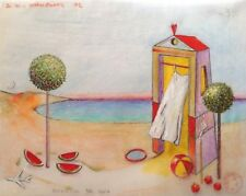 "Dimitris C. Milionis  ""HOUSE OF EROS""  Colored Drawing Paper Greek Seascape 2007"