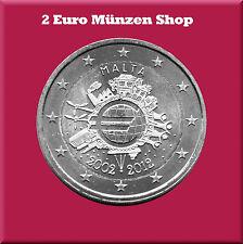 """2 Euro Gedenkmünze Malta 2012 """"10 Jahre Euro Bargeld"""""""