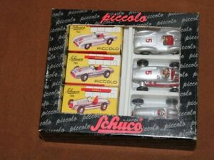 Schuco 01196 Piccolo Geschenkset 3 Mercedes Silberpfeile OVP Mod. 702, 703, 704