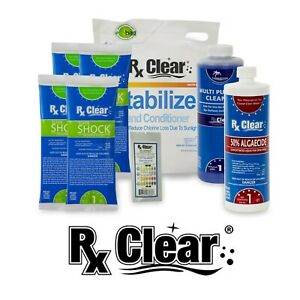 Rx Clear Spring Swimming Pool Start-Up Chemical Kit For Pool Up To 30,000 Gallon