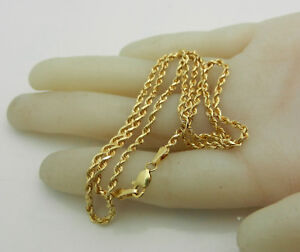 """Beautiful 14k Yellow Gold Rope Style Chain Necklace 5.6 grams 18"""" long"""