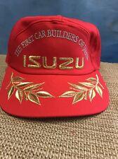 Vintage Isuzu Trucker Hat The First Car Builders Of Japan  RARE Red Zipper Back