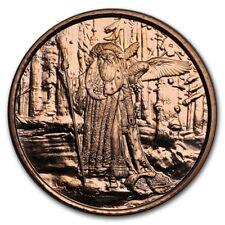 Celtic Lore - Merlin -  1oz .999 BU copper round