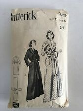 "Vintage 1950s Butterick 6329 Dressing Gown pattern bust 40 ""Quick and Easy"""
