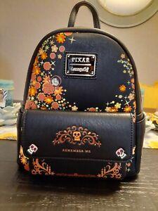Disney Pixar Funko Loungefly Coco Pixar Remember Me Mini Backpack Skull Floral