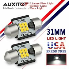 AUXITO 2X CANBUS 31MM LED Festoon Bulbs Interior Dome Light Lisence Plate Lamp