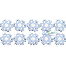 10Pcs Star 20mm High Power 1w 3w Watt LED Heat Sink Aluminum Base Plate White