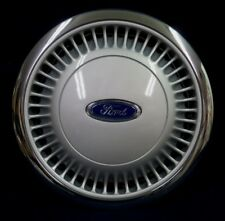 "FORD TAURUS 1986-1991 14"" RIB DESIGN WHEEL COVER WITH CHROME OUTER RING - 1 OEM"