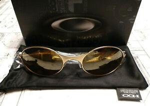 Oakley 2013 Collectors E Wire Matte Gold / Gold Iridium NIB OO4055-03