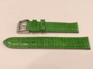 SARTEGO Diamond Collection Genuine Leather Green Wrist Watch Strap Band 18mm
