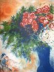 Marc Chagall, Les Amoureux au bouquet de fleurs, Hand Signed Lithograph