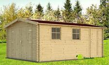 28 mm Holzgarage Schweden 41 330 x 510 cm Garage Gerätehaus Blockhaus Schuppen