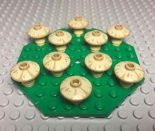 Lego New Bulk Lot Tan Mushroom X10 Mini Figures Plants With Green Octagon Plate