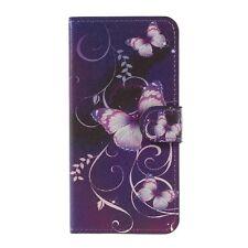 Etui type portefeuille pour Huawei P10 Lite rabat latéral papillons fond vi