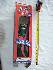 Vintage HAZELLE'S Marionette Puppet DINO w/ Box 805 * EXC COND * FREE SHIPPING