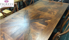 """180cm """"Chelmsford"""" Parquetry Solid Hardwood Timber Dining Table"""