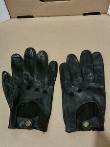 Dents Delta Men's Leather Classic Driving Gloves VINTAGE MEDIUM