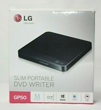 LG Slim Portable DVD Writer GP50 USB 2.0 External Drivewith M-DISC Support