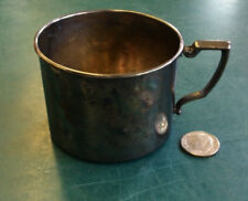 ANTIQUE NURSERY SILVER PLATE 15204 CHILD'S-BABY CUP-SILVERPLATE (RBE)