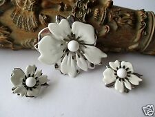 Vintage Sarah Coventry Demi Summer Magic Set Jewelry Signed Flower Collectable