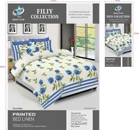NEW Duvet Cover Bedding Set With Pillow Cases & Fitted Sheet All Sizes