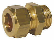 """Wade Brass Male Stud Coupling 3/16 x 1/8"""" BSPT Compression Fitting"""