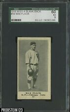 1916 M101 -4 BLANK BACK #59 Max Flack Chicago Cubs SGC 60 EX 5