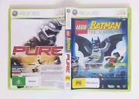 Microsoft Xbox 360 - Lego Batman and Pure 2 x Game Pack + Manual Free Postage