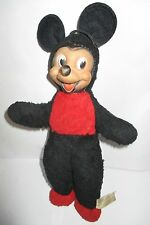 VINTAGE  SEMCO MICKEY MOUSE SOFT TOY WITH HARD PLASTIC FACE PIE CRUST EYES