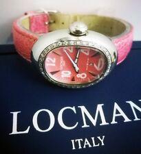 Locman Ovale Lady Orologio Donna In Acciaio Pelle Struzzo e 36 Diamanti 0.38 Kt