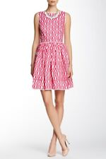 NEW Oscar de la Renta Sleeveless Trimmed Pocket Dress- size 10 $1,290