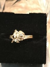14k Gold Rose Ring With Diamond