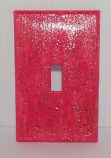 New Pink Sparkle Switch Plate Cover with Matching Screws