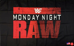 Monday Night RAW Flag 3X5 Man Cave 3 x 5  Banner US Seller Free shipping New