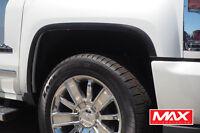 FTCH806 16-18 Chevy Silverado 1500/2500 Matte Black Stainless Steel Fender Trim