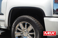 FTCH806 16-17 Chevy Silverado 1500/2500 Matte Black Stainless Steel Fender Trim