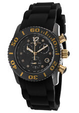 Swiss Legend Women's Commander Diamonds Chronograph Black Silicone & Dial Watch