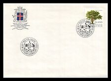 Iceland 1985 FDC, Centenary of the Horticultural Society of Iceland. Lot # 3.
