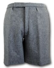 Grey Wool Flannel School Uniform Short Trousers - Elastic Back & COTTON Lining