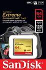 SanDisk 64GB Extreme CompactFlash CF 120MBs Memory Card Camera SDCFXSB-064G-G46