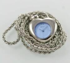 Relic Blue Women's Stainless Steel Silver Quartz Battery Pendant Watch